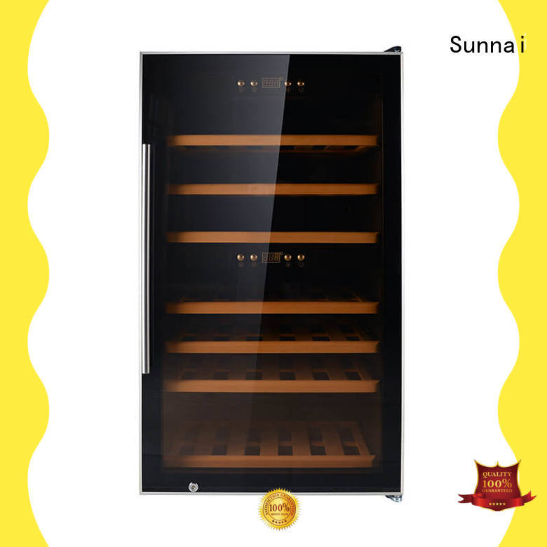 Sunnai black wine storage fridge wholesale for home