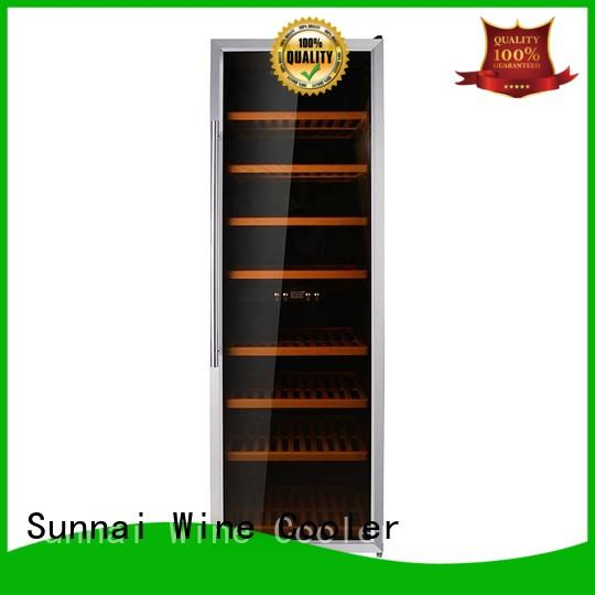 Sunnai black single zone wine cooler wholesale for shop