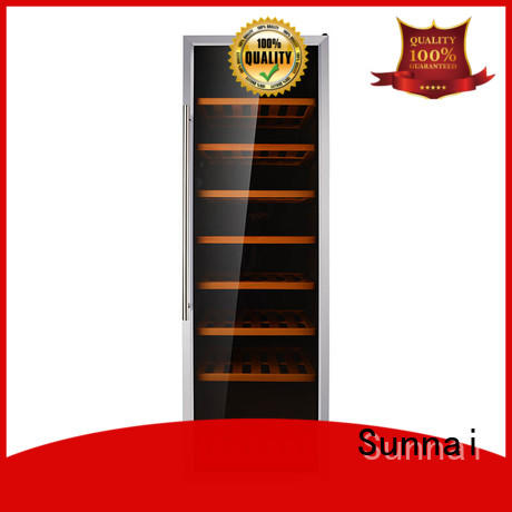 Sunnai single dual zone wine fridge product for work station