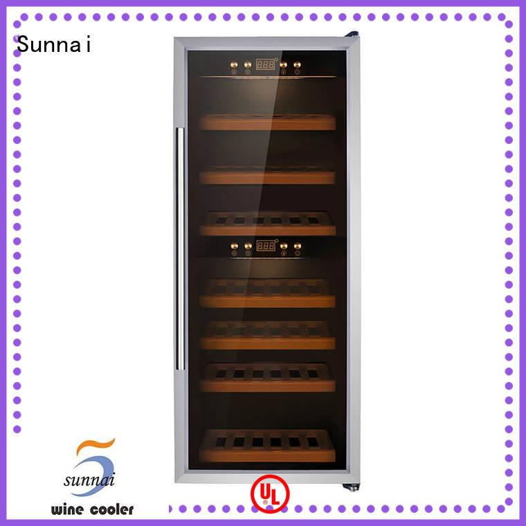 wine refrigerator dual zone freestanding cooler compressor freestanding wine cooler Sunnai Brand
