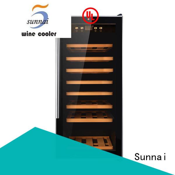 online dual zone freestanding wine cooler wood supplier for indoor