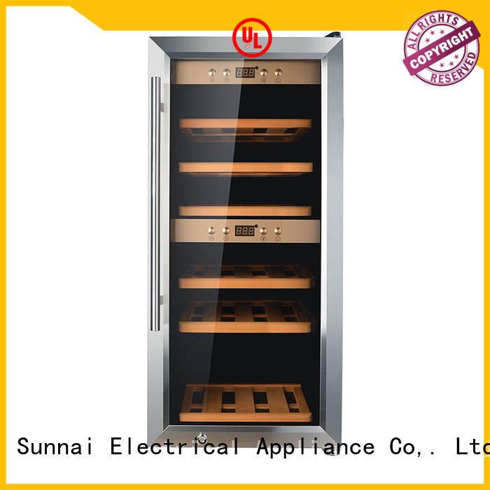 high quality dual zone wine fridge bottles manufacturer for shop
