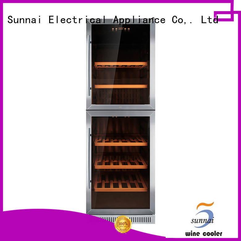 Sunnai stainless single zone wine fridge manufacturer for work station
