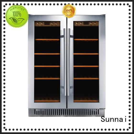 Sunnai bottles single zone wine fridge cooler for shop