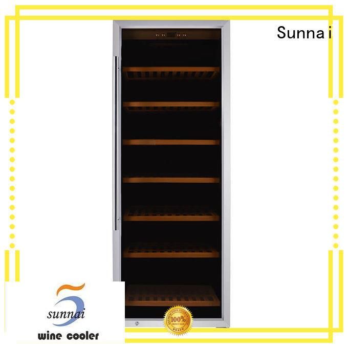 black electric wine cooler refrigerator for shop
