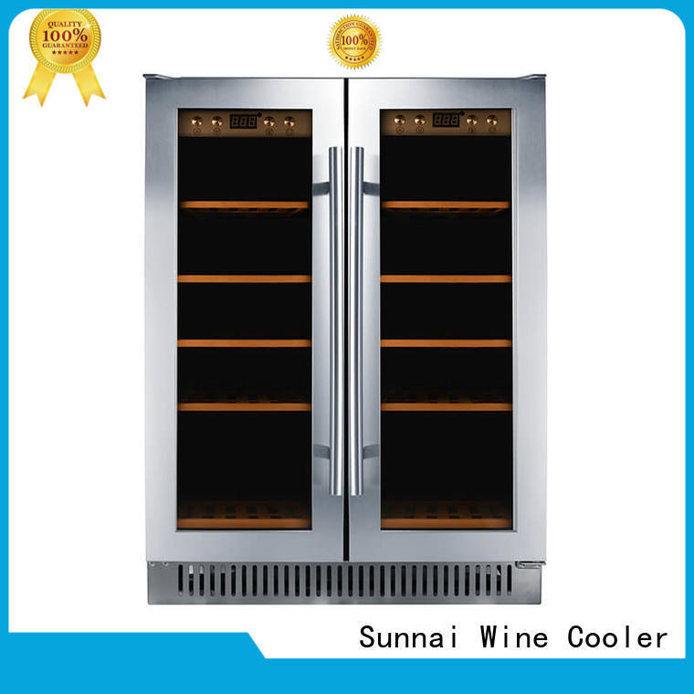 Sunnai double under counter wine cooler supplier for shop
