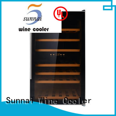 Sunnai bottles compressor wine cooler dual zone manufacturer for shop