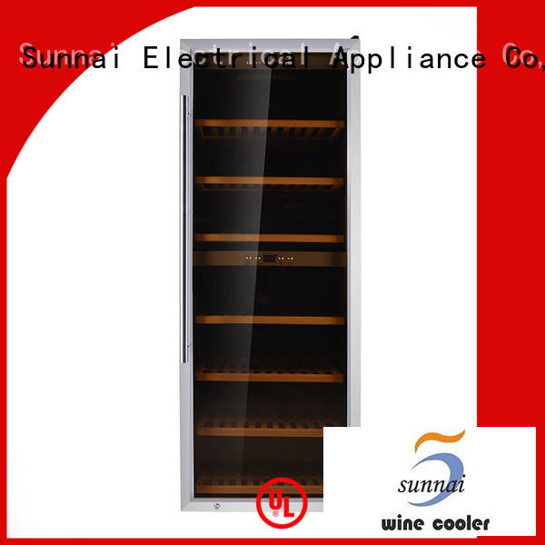 stainless table freestanding wine cooler compressor Sunnai Brand