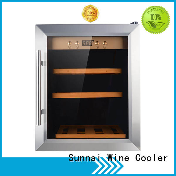 Sunnai door dual zone wine fridge supplier for work station