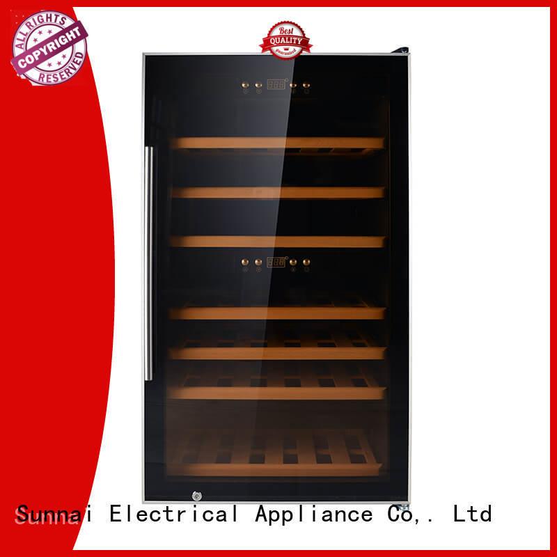 freestanding wine cooler fridge supplier for work station Sunnai