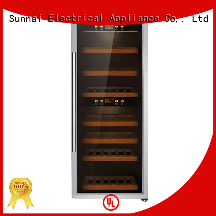 Sunnai black single zone wine refrigerator wholesale for indoor