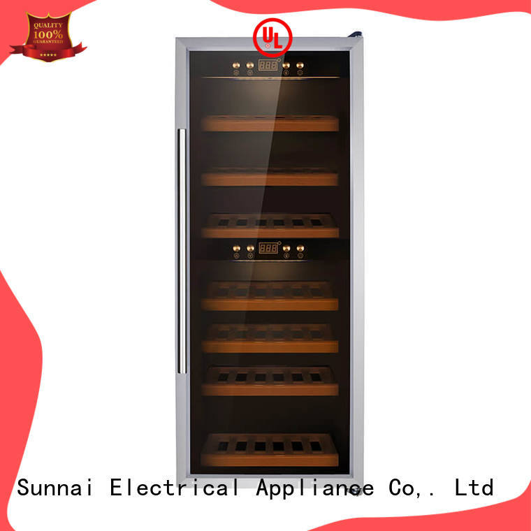 black dual zone freestanding wine cooler cooler series for home