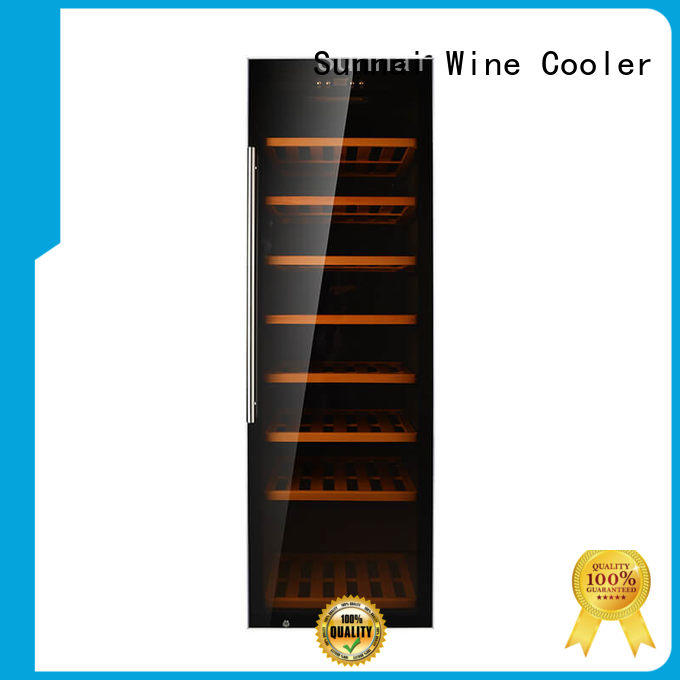 Sunnai refrigerator dual zone freestanding wine cooler refrigerator for home