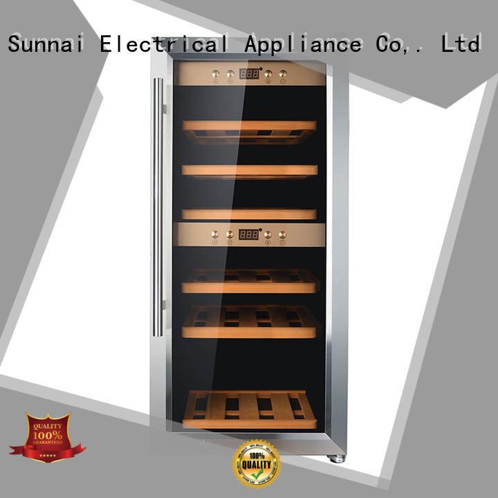 Sunnai chiller freestanding wine fridge product for work station