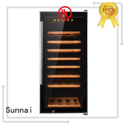 safety compressor wine cooler dual zone table wholesale for shop