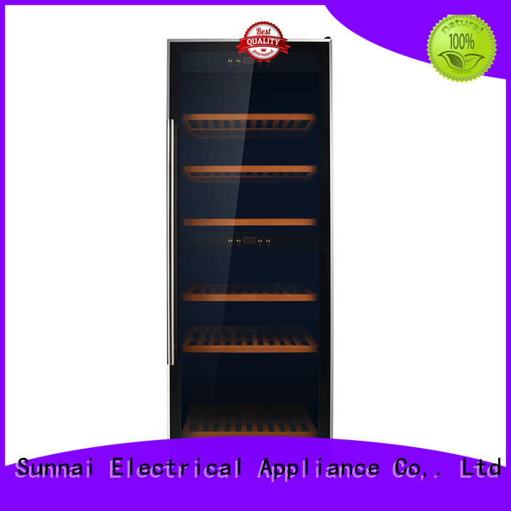 Sunnai safety dual zone wine cooler wholesale for indoor