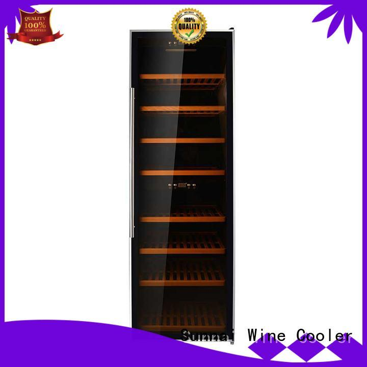 Sunnai single stainless steel door wine cooler supplier for home