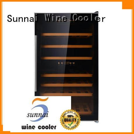 Sunnai black dual zone wine fridge series for indoor