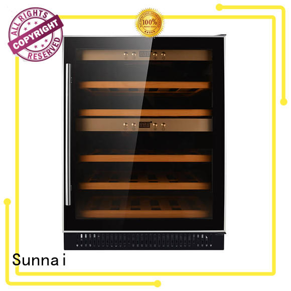 double under counter wine fridge supplier for indoor Sunnai
