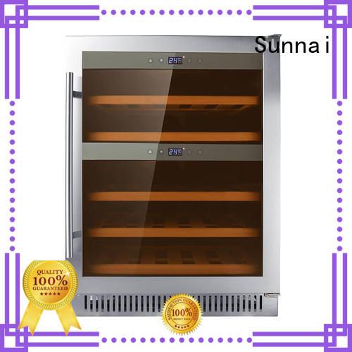 Sunnai durable single zone wine fridge compressor for shop