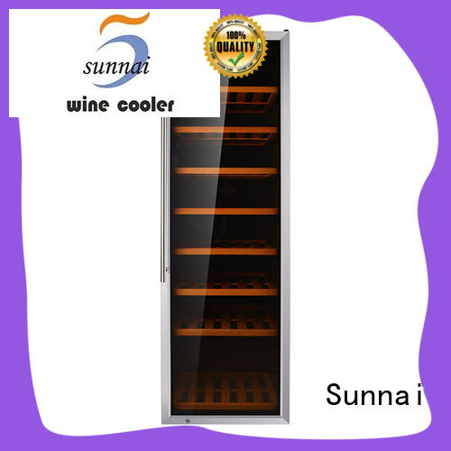Sunnai black single bottle wine cooler steel for work station
