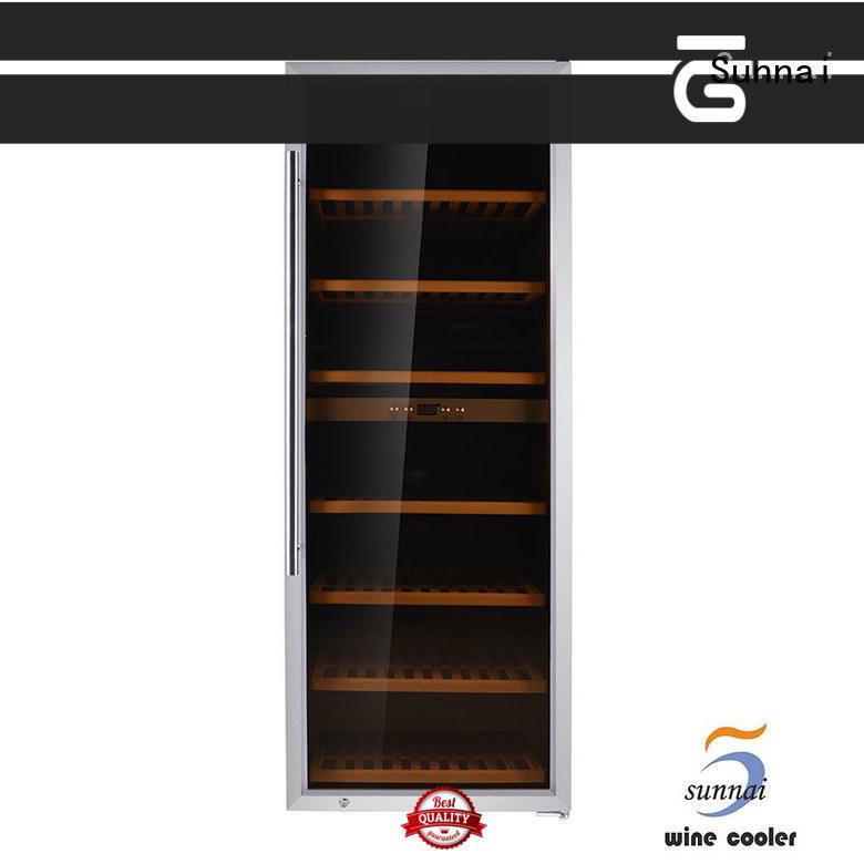 Sunnai black wine storage refrigerator manufacturer for work station