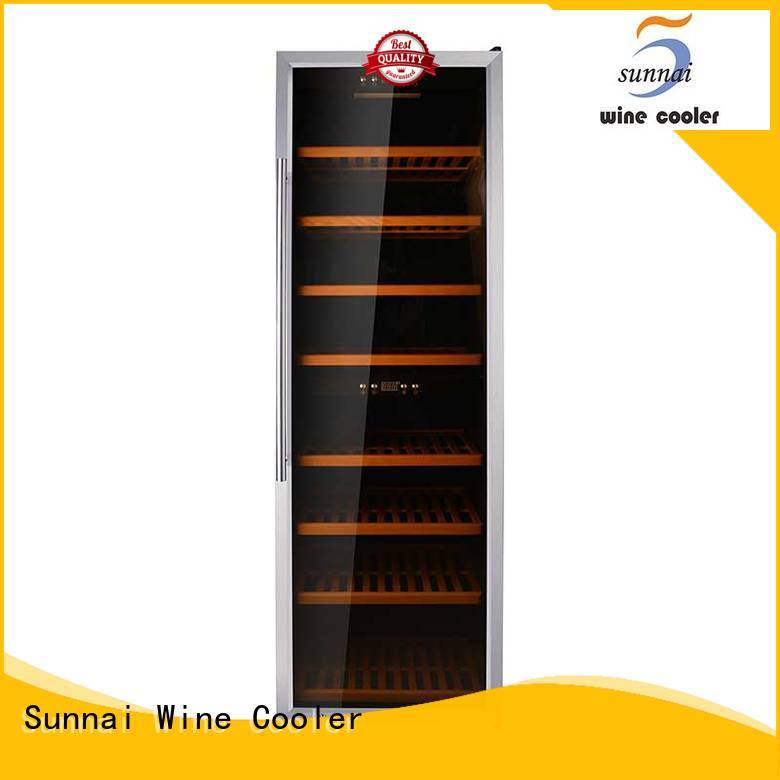 Sunnai chiller dual zone freestanding wine cooler series for indoor