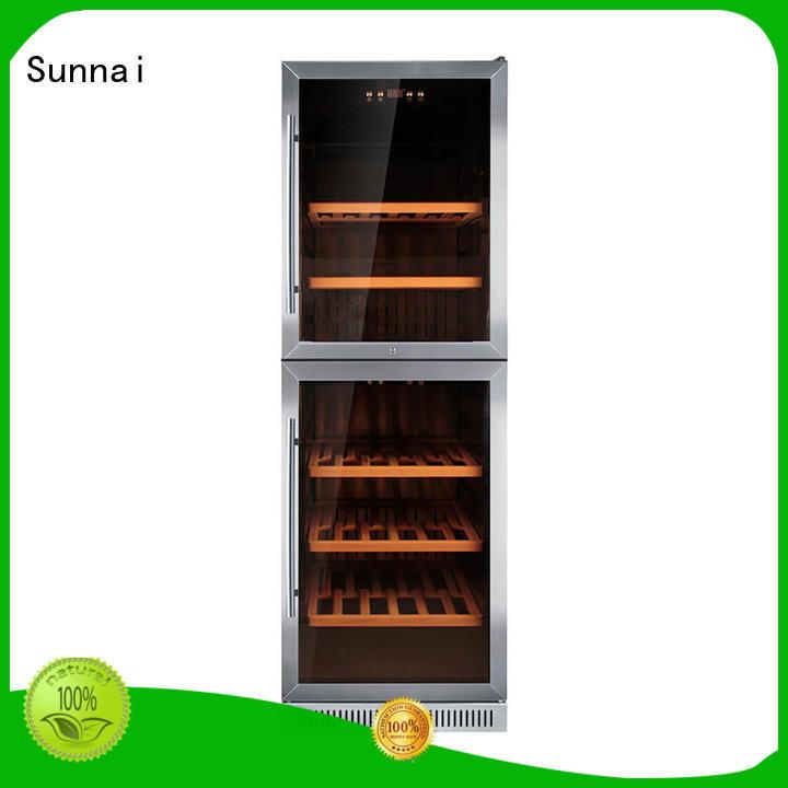 Sunnai cooler double doors wine cooler compressor for work station