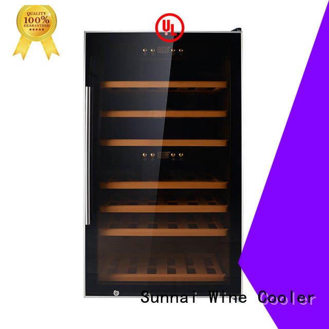 Sunnai double dual zone wine fridge refrigerator for home