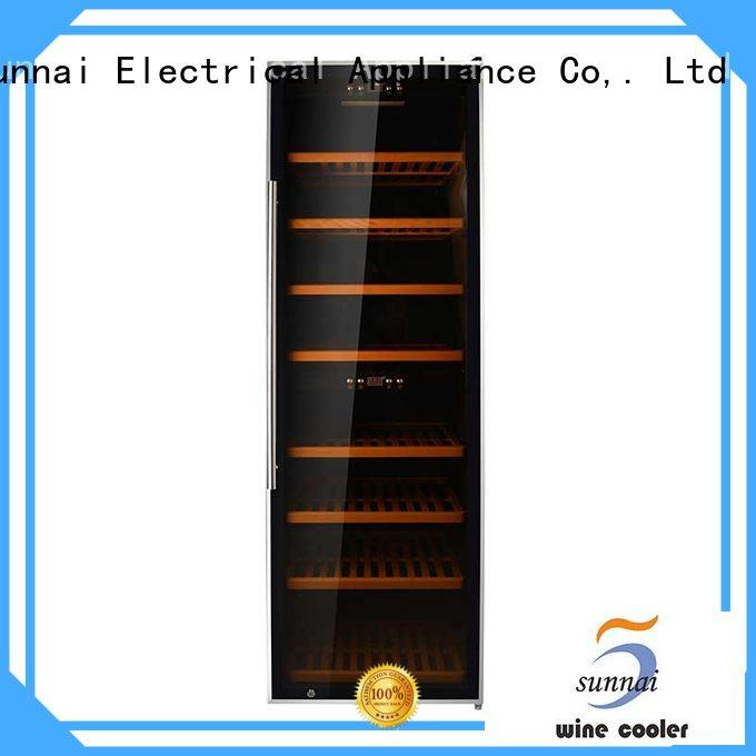 black dual zone wine refrigerator panel product for work station