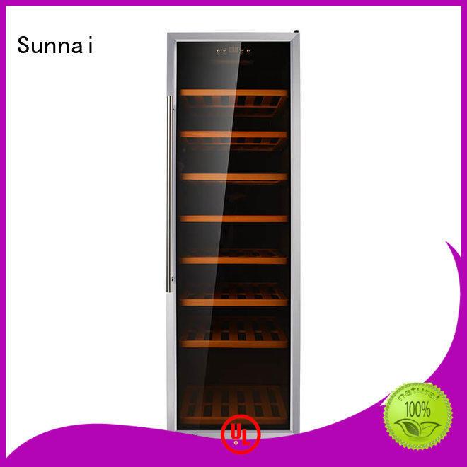 Sunnai wine single zone wine refrigerator supplier for work station