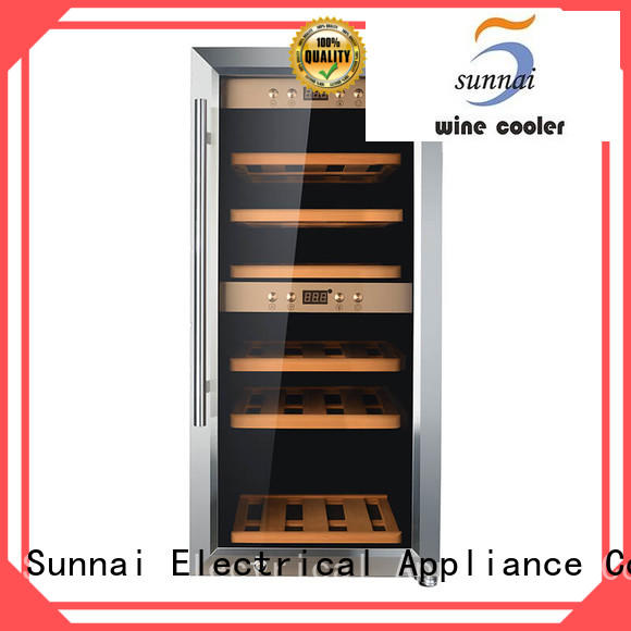Sunnai steel stainless steel door wine cooler product for home