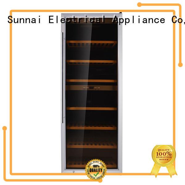 cellar free standing wine refrigerator double for indoor Sunnai