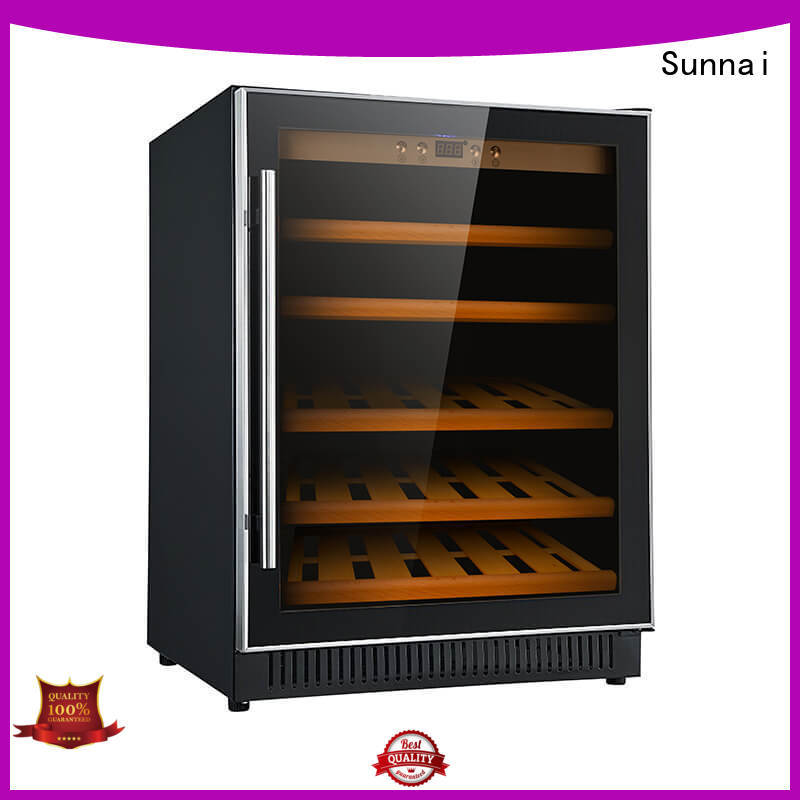 black single zone wine fridge zone supplier for shop