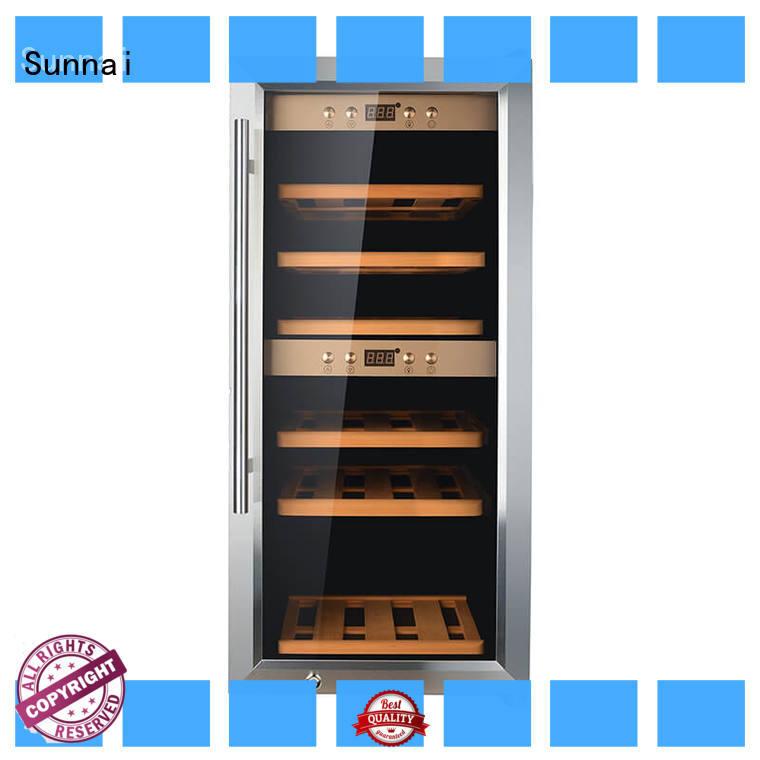 black wine cooler refrigerator refrigerator for shop Sunnai