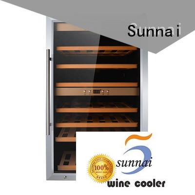 Sunnai online stainless steel door wine cooler series for indoor