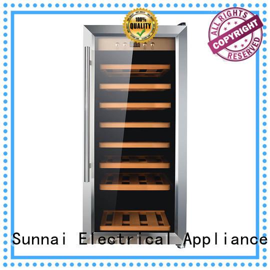 Sunnai bottles stainless steel door wine cooler refrigerator for home