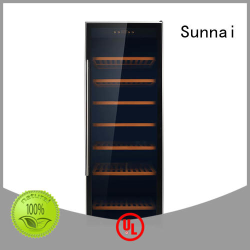Sunnai durable free standing wine refrigerator supplier for home