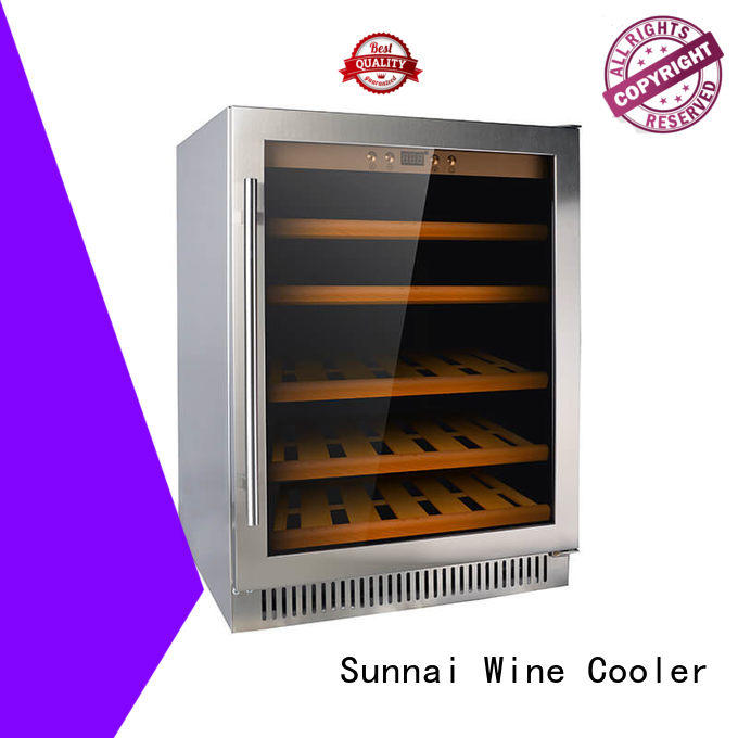 Sunnai wine under counter dual zone wine fridge cooler for shop