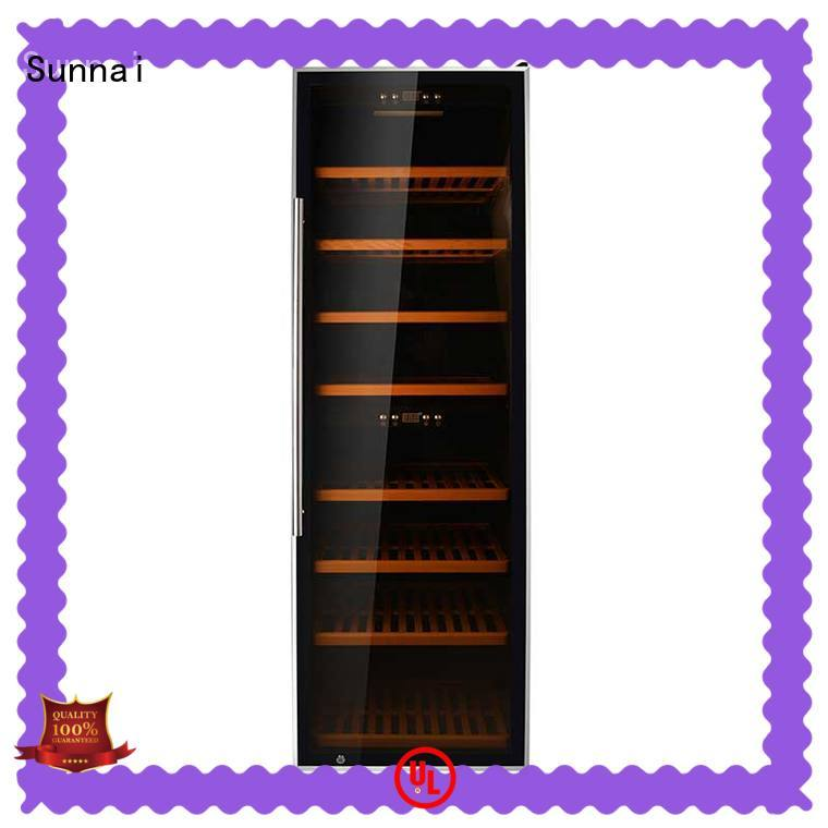 Sunnai cellar dual zone freestanding wine cooler wholesale for indoor
