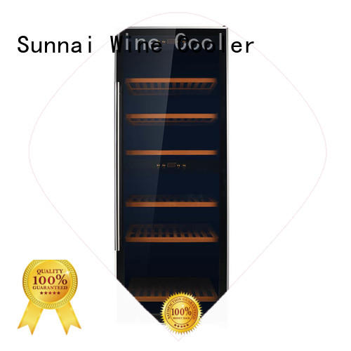 Wholesale steel wine refrigerator dual zone freestanding Sunnai Brand