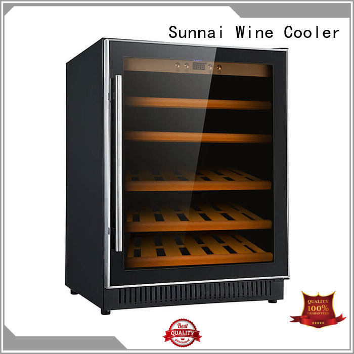 Sunnai high quality dual zone undercounter wine cooler compressor for work station