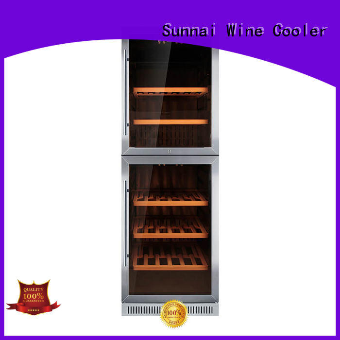 Sunnai compressor dual zone undercounter wine cooler cooler for work station