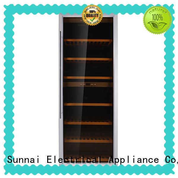 Sunnai fridge free standing wine refrigerator supplier for work station