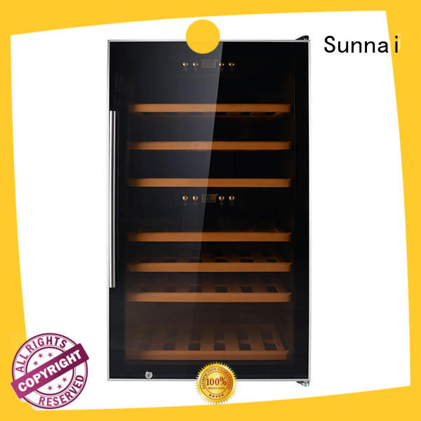 Sunnai professional stainless steel door wine cooler manufacturer for home