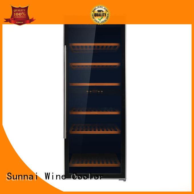 Sunnai wood dual zone wine cooler manufacturer for shop