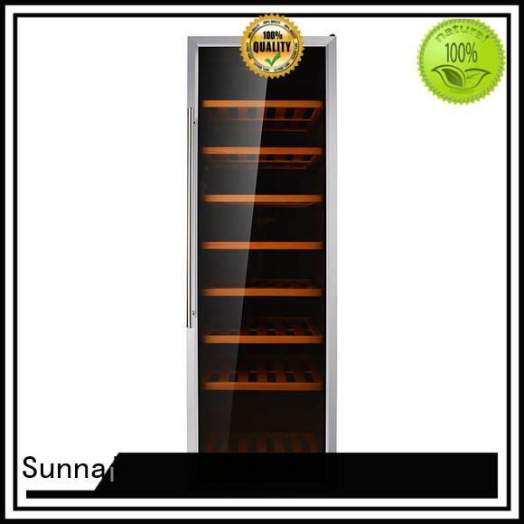 Sunnai fridge dual zone wine fridge refrigerator for indoor