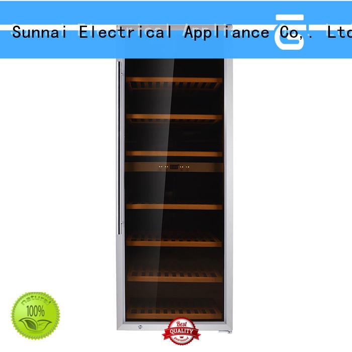 Sunnai professional single zone wine refrigerator series for indoor