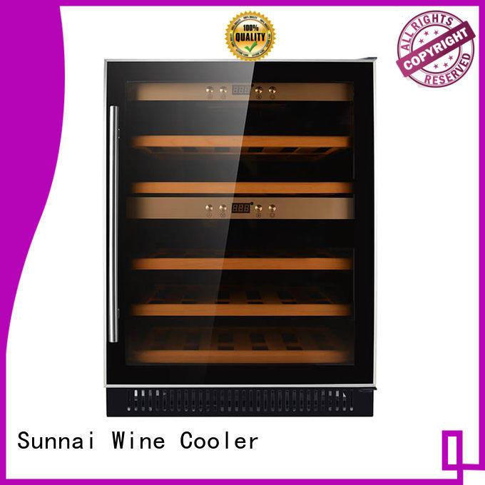 durable under counter dual zone wine fridge bottles wholesale for indoor