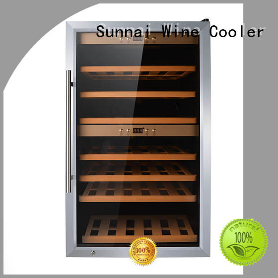 black single zone wine cooler table refrigerator for shop
